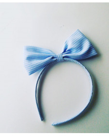 GIRLS BLUE CHECK DIADEM