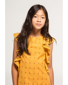 GIRL MOUSTACHE DRESS BOBOLI