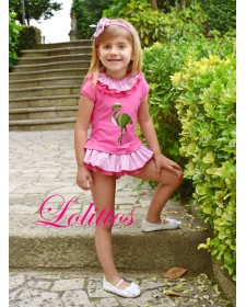GIRLS T-SHIRT AND BLOOMERS LOLITTOS FLEMISH