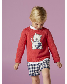 BABY BOY RED SWEATER NANOS
