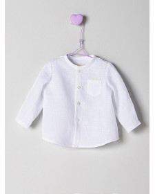 BOY WHITE LINEN SHIRT