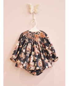 BABY GIRLS FLOWERS DRESS AND KNICKERS MON PETIT BOMBON
