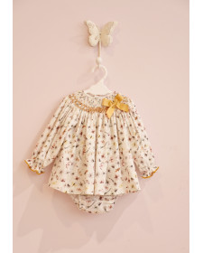 BABY GIRLS BUTTERFLY DRESS AND KNICKERS MON PETIT BOMBON