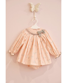 BABY GIRLS CHICKEN DRESS AND KNICKERS MON PETIT BOMBON