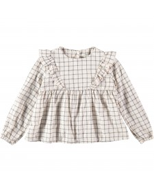 GIRL JULIA CHECK BLOUSE BUHO