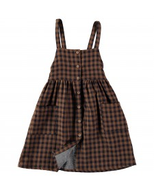 GIRL LAURA BUTTONED DUNGAREE DRESS BUHO