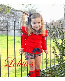BABY GIRL SWEATER AND BLOOMERS LOLITTOS CACHEMIR