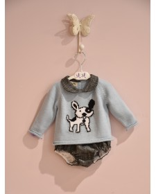 BABY BOYS SWEATER AND BLOOMERS LOLITTOS