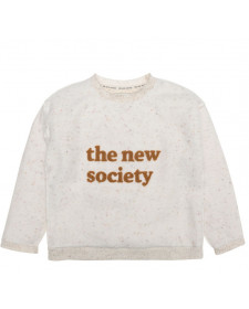 GIRL ECRU SWEATSHIRT THE NEW SOCIETY