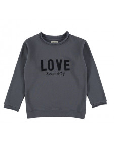 SUDADERA UNISEX THE NEW SOCIETY LOVE GRIS