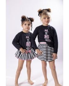 BABY GIRLS ZEBRA JUMPSUIT AND BLOOMERS MON PETIT BOMBON