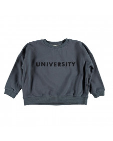 SWEATSHIRT ANTHRACITE WITH FRILLS ON SHOULDERS
