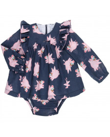 BABY GIRLS PIG DRESS MON PETIT BOMBON