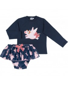 BABY GIRLS PIG JUMPSUIT AND BLOOMERS MON PETIT BOMBON