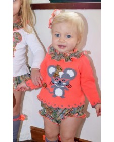 BABY GIRLS SWEATER AND BLOOMERS LOLITTOS DALIA