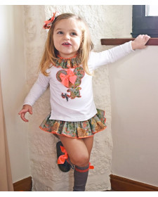 GIRL T-SHIRT AND BLOOMERS LOLITTOS DAHLIA