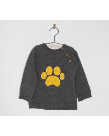 BABY BOYS YELLOW PAW PRINT SWEATER JOSE VARON