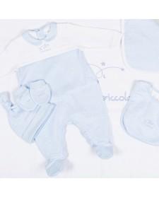 BABY BOYS BLUE SET NEW BORN TUTTO PICCOLO