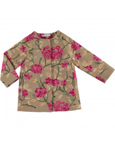 GIRL COAT FLOWERS PRINT