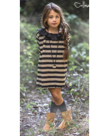 GIRL BLACK DRESS BAMBOLINE JACARANDA