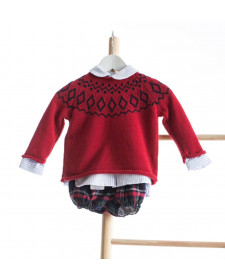 BABY BOY 2 PIECES SET TARTAN