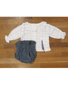 BABY BOY BLOUSE AND BLOOMERS EL TALLER DE LA ABUELA