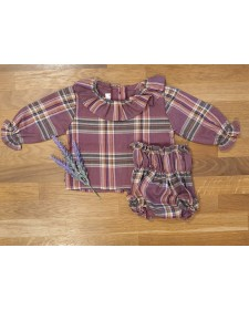 BABY GIRLS BLOUSE AND BLOOMERS EL TALLER DE LA ABUELA