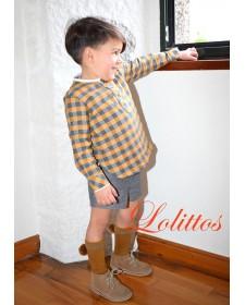 SHORT CON CAMISA DE NIÑO LOLITTOS DAHLIA