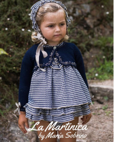 GIRL DRESS WITH CARDIGAN BUCKINHAM LA MARTINICA