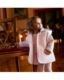 BABY GIRLS PINK COAT TUTTO PICCOLO