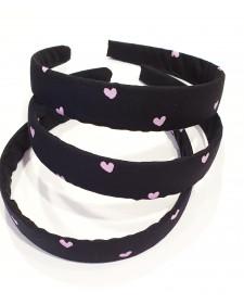headband girl pink hearts