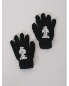 GIRL BLACK GLOVES NANOS
