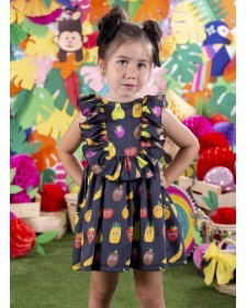GIRLS DRESS MON PETIT BOMBON FRUITS