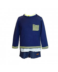 BOY NAVY SWEATER LOLITTOS STAR