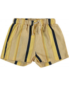 GIRLS YELLOW STRIPES SHORT THE NEW SOCIETY