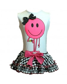 GIRLS T-SHIRT AND BLOOMERS MON PETIT BOMBON