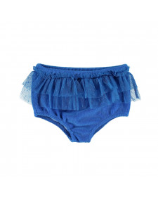 HIGH WAISTED SHORTIES WITH TULL INDIGO BLUE