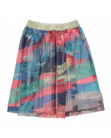 LONG SEQUIN SKIRT MULTICOLORED