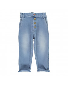 UNISEX TROUSERS WASHED BLUE JEANS PIUPIUCHICK
