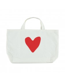 EXTRA LARGE LOGO BAG OFF WHITE AND RED