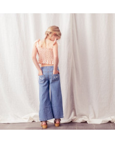 DENIM FLARED TROUSERS TOCOTO VINTAGE