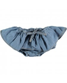 LIGHT DENIM RUFFLED CULOTE TOCOT VINTAGE