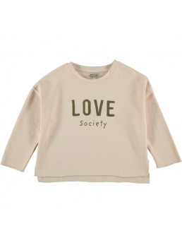 SUDADERA DE NIÑA THE NEW SOCIETY LOVE SHELL