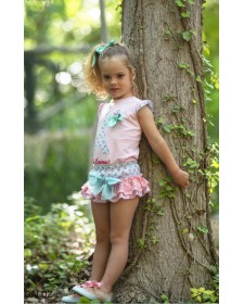 GIRL TSHIRT AND BLOOMERS DIVERDRESS