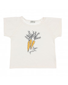 CAMISETA DE NIÑA BUHO LOVE GREEN