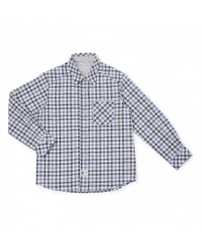 BOYS BLUE & GREY CHECKED SHIRT PILI CARRERA.