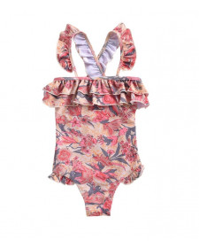 Bathing Suit Zacatecas Pink Flowers Louise Misha