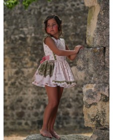 GIRLS DRESS SANCHEZ DE LA VEGA OLIVA