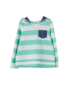 BOY SWITSHIRT GREEN STRIPES NANOS