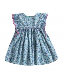 GIRL LYKA EMERALD FLOWERS DRESS LOUISE MISHA